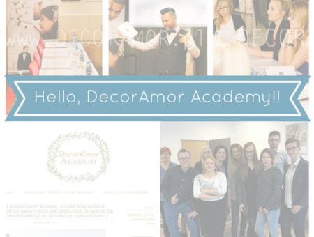DecorAmor Academy - szkolenia konsultant ślubny wedding planner event manager biznes fotograf