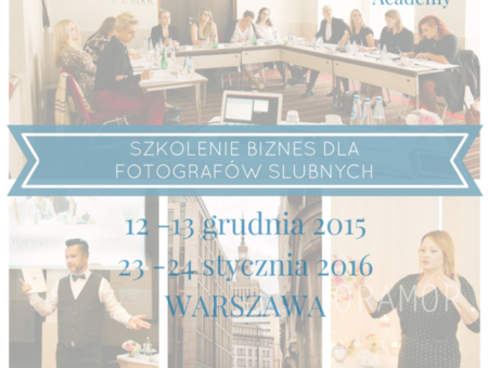szkolenie - biznes dla fotografów ślubnych DecorAmor Academy