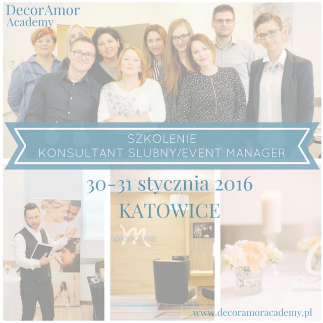 szkolenie kurs konsultant ślubny event manager katowice kielce