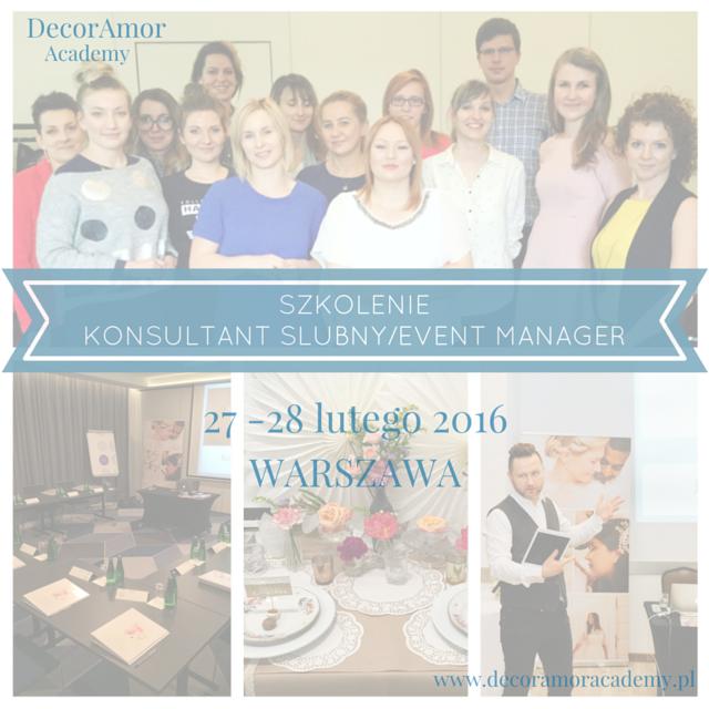 Szkolenie Wedding Planner-Warszawa