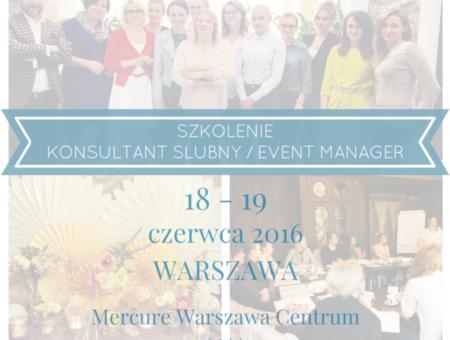 szkolenie konsultant ślubny wedding planner event manager
