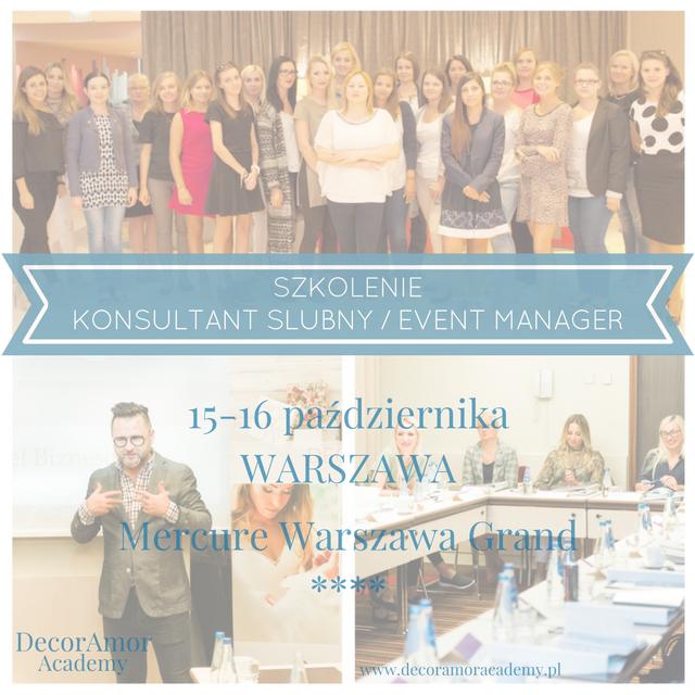 szkolenie kurs wedding planner konsultant ślubny event manager