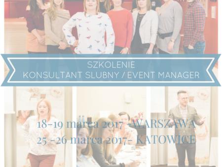 Szkolenie Kurs Konsultant Ślubny Wedding Planner Event Manager Warszawa Katowice