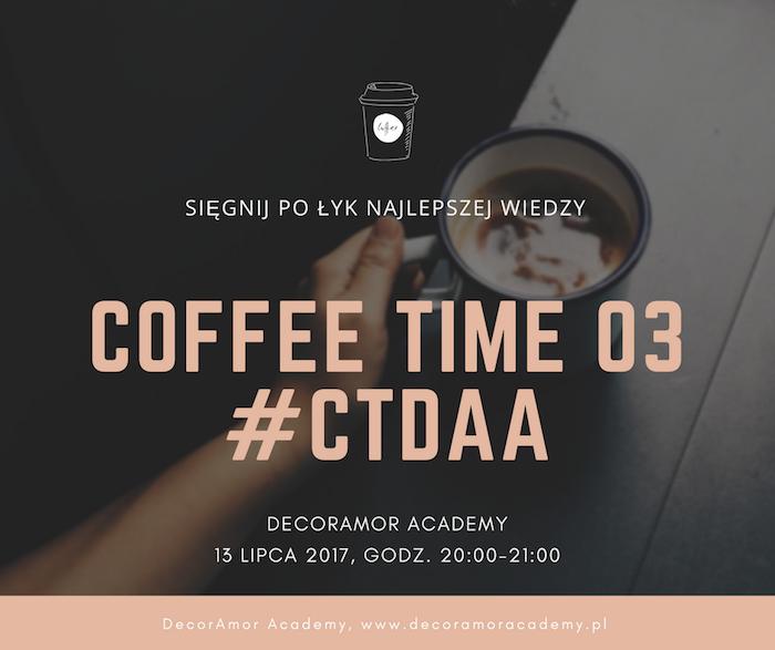 CoffeeTime DecorAmor Academy Webinar