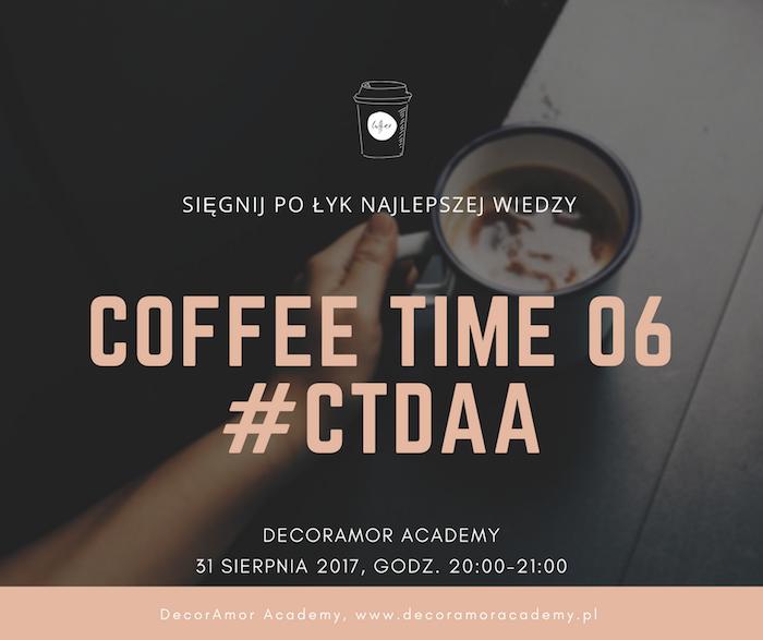 CoffeeTime #06 - webinar dla absolwentów DecorAmor Academy wedding Planner