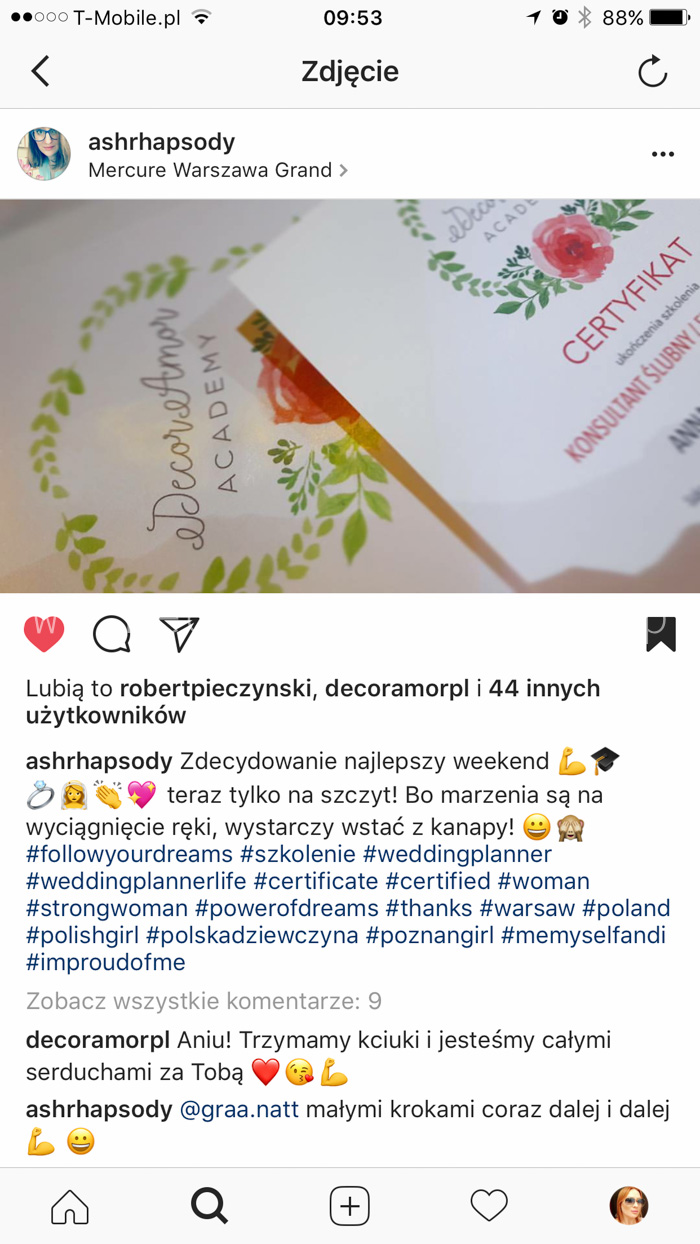 p-25- Agencja Ślubna DecorAmor Wedding Planner Konsultant Ślubny Organizacja Wesel Szkolenie Kurs Warszawa Szczecin Poznań Wrocław Kielce Kraków Katowice Gdańsk Academy
