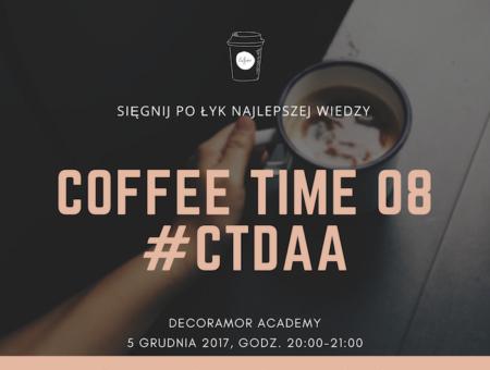 CoffeeTime 08 webinar kurs szkolenie wedding planner konsultant ślubny DecorAmor Academy
