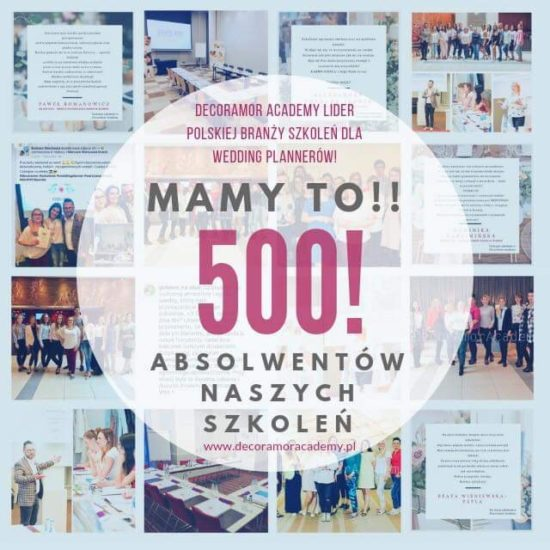 500 Wedding Plannerów DecorAmor Academy