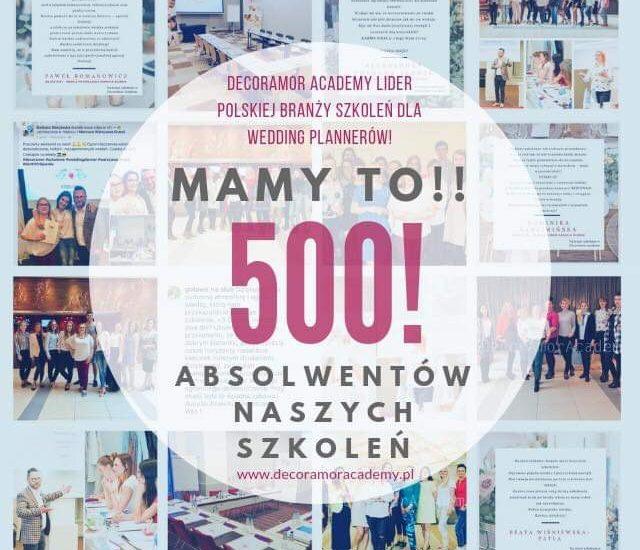 500 Wedding Plannerów DecorAmor Academy